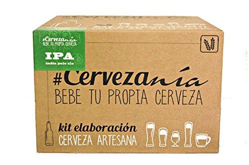 #Cervezanía - Kit de elaboración de cerveza artesana Indian Pale Ale IPA. Elabora 5 litros de cerveza en casa