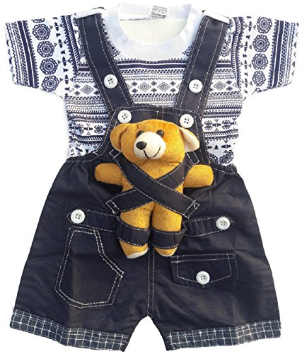 Miss-U-Soft-Applique-Denim-Dungaree-Set-With-T-Shirt-For-Kids-6-12-Months