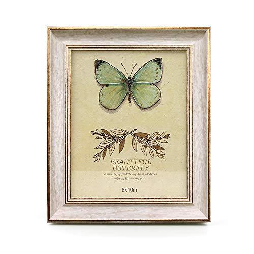 Im Alter Von Antiken Gold-finish (Afuly Vintage Fotorahmen in Off weiß und Gold Rand für Schreibtisch Wand 20x25 - aus umweltfreundlichen Materialien)