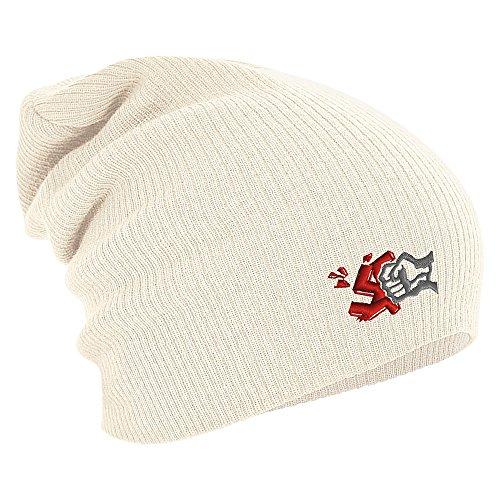 Longbeanie Slouch-Beanie Wintermütze gegen Nazis 55150 Farbe natur
