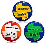 meteor Handball Ballon d'entraînement en Caoutchouc pour Ballon de Handball pour Enfants Junior Homme Femme (Enfant #0 (47-49 cm), Bleu/Vert)