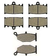 SOMMET Pastillas de freno Delanteras + Traseras para Suzuki GSR 600 K6/K7/K8 (06-08) / GSR 400 K6 (2006)