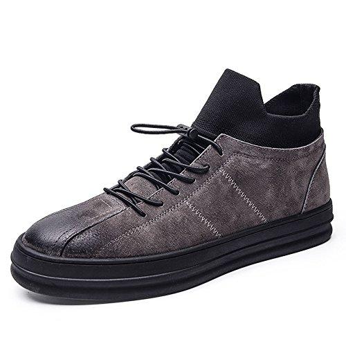 FEIFEI Scarpe da uomo Primavera e autunno Movimento Leisure Tide Shoes 2 Colors ( Colore : Grigio , dimensioni : EU40/UK7/CN41 ) Grigio