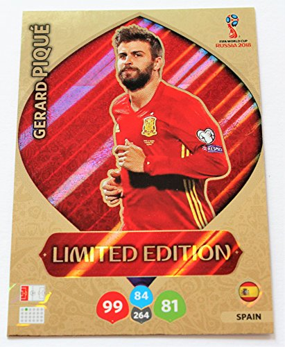 Panini Adrenalyn XL WM 2018 Russland - Pique Spanien Karte limited Edition (Wm-karten Edition Limited)