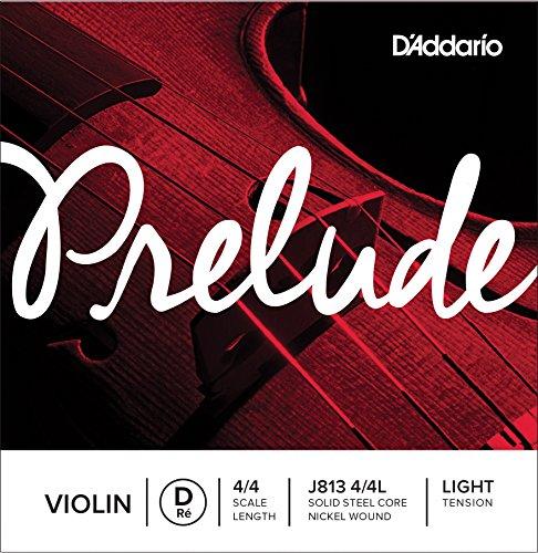 D'Addario Prelude Violinen-Einzelsaite (D), 4/4, leichte Spannung (4 Violin-saiten 4 Tonica)