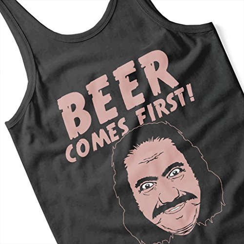 Cloud City 7 Beer Comes First Women's Vest Black