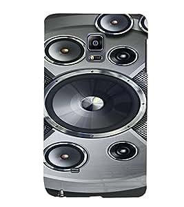PrintVisa Music Speaker Bass 3D Hard Polycarbonate Designer Back Case Cover for Samsung Galaxy Note Edge