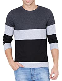 Style Shell Men's Cotton T-Shirt (Tri_Ylw)