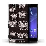 Stuff4 Hülle / Case für Sony Xperia T2 Ultra / Prinzessin Krone Muster / Modern Lebendig Kollektion