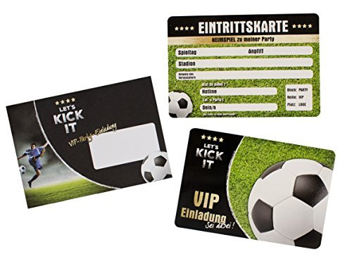 """Trendhaus trendhaus939302""""Let 's Kick it VIP"""" Einladung Karte"""