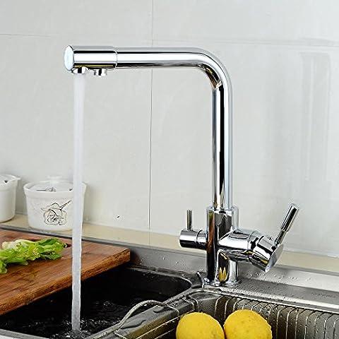 FFZH Voll Dual verchromte Kupfer-Stud ordentlich Küchenarmatur Waschbecken