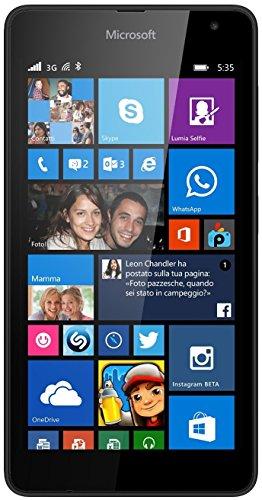 Nokia Lumia 535Unlocked Smartphone 11,4cm (: 5Zoll) schwarz (Import Italien)