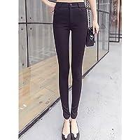 TT&NIUZAIKU Mujer Tiro Alto Ajustado Pantalones - Un Color , black , m