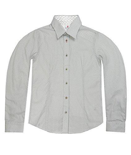 Lemmi Jungen Hemd 1/1 Arm slim, Gr. 128, Grau (light gray melange gray 8100) Preisvergleich