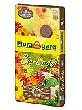 Floragard Bio-Erde ohne Torf 40 L, torffreie Universalerde f. Zimmer-, Balkon- und Kübelpflanzen, auch f. Bio-Gemüse, Hochbeeterde