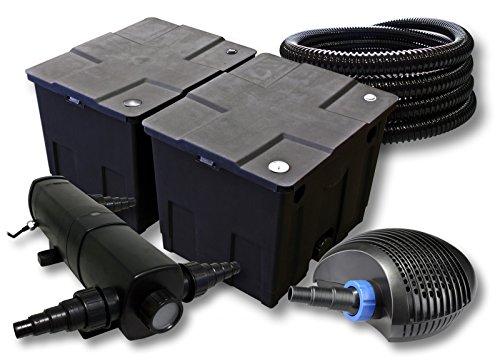 SunSun Kit de Filtration de Bassin pour 60000l avec 36W Stérilisateur et 40W éco Pompe 25m Tuyau