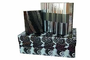 Maildor 211863C Set de 3 boîtes gigognes Noir