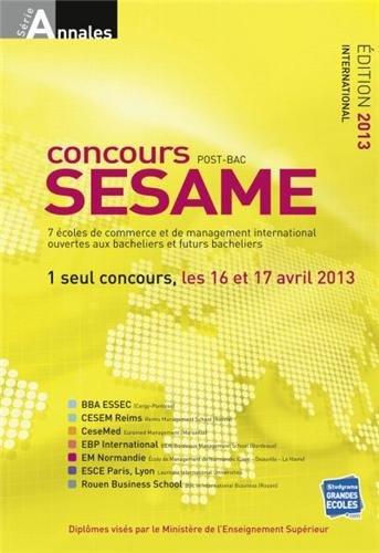 Concours SESAME : Annales, sujets et cor...