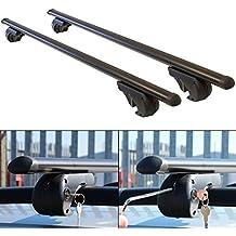 Barras de techo aerodinámicas de aluminio negro con dispositivo de bloqueo antirrobo para coche Hardcastle - 3 tamaños