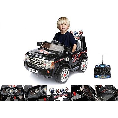 Macchina elettrica 12 V con telecomando parentale – 4x4 elettrica nera per bambino