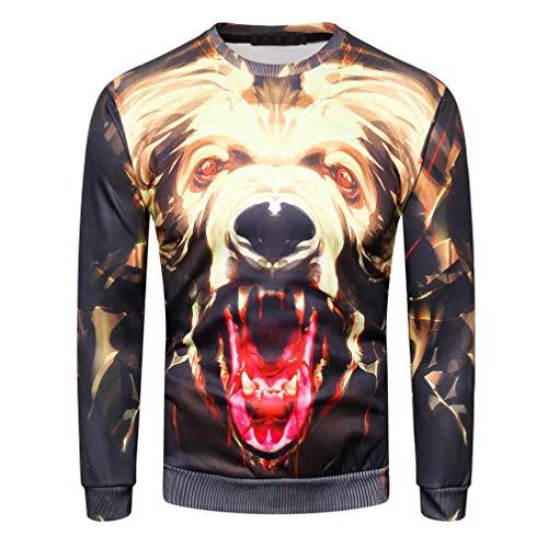 MRULIC Herren Pullover Herbst Pullover Shirt Top 3D -