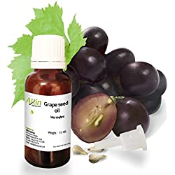 Allin Exporters Cold Pressed Grape Seed Oil 15 Ml 100% Natural Moisturizer & Antioxidant For Skin, Hair & Nails Presence Of Vitamins E, C & D
