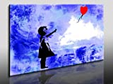 Fotoleinwand24 - Banksy Graffiti Art 'There Is Always Hope' / AA0134 / Bild auf Keilrahmen / Grau / 120x80 cm