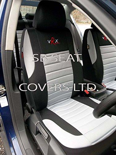 Ford Focus UK Model Car Seat Covers Vrx grigio set completo-misura (Grigio Su Misura Seat Covers)