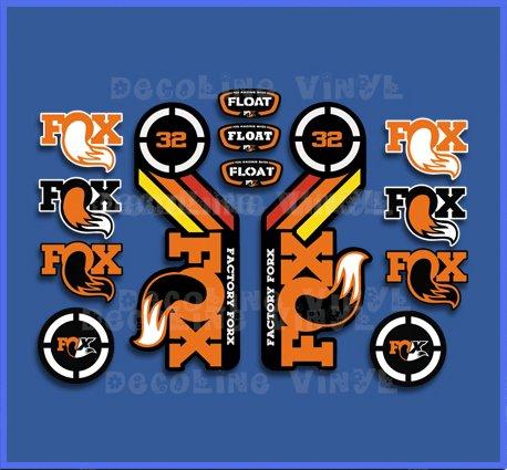 PEGATINAS FOX FLOAT 32 2015 HERETAGE DP1086 STICKERS AUFKLEBER DECALS AUTOCOLLANTS ADESIVI (NARANJA)