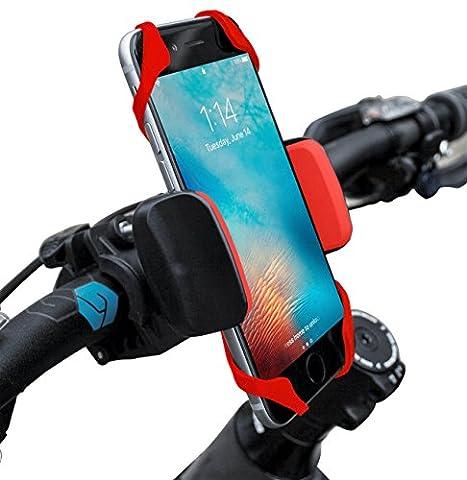 widras Fahrrad- und Motorrad Handy Halterung–für iPhone 6, 5, 6S Plus, Samsung Galaxy Note oder jedem Smartphone & GPS–Universal Mountain & Road Fahrrad Lenker Halterung für Pokemon Go, (Nike Free Trainer Rot)