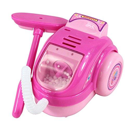 Familienküche Baby Kid Entwicklungs Lernspielzeug Simulation HaushaltsgeräTe KüChe Spielzeug (Rosa Staubsauger)
