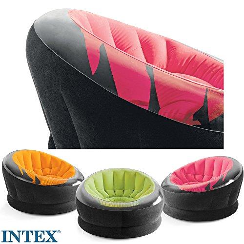 Intex Loungesessel Rosa Beflockte Sitzfläche Für Innen Und