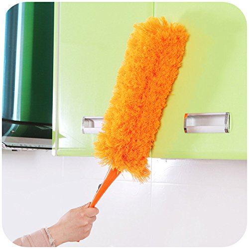 PANGUN Multifunktions Flexible Feather Duster Haushalt Staubbürste Zimmer Möbel Staub Reinigungsbürste-Orange (Orange Zimmer)