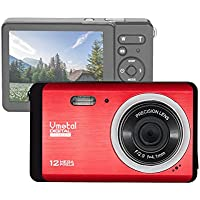 "GDC80X2 Compact Digital Camera with 8x Digital Zoom/12 MP/HD Compact Camera/3"" TFT LCD Screen for Children/Beginners/Elderly (Red)"