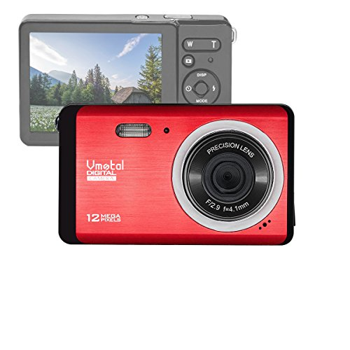 GDC80X2 Kompakte Digitalkamera mit 8x Digitalzoom / 12 MP / HD Kompaktkamera / 3u0022 TFT LCD Bildschirm für Kinder / Anfänger / ältere Menschen Weihnachtsgeschenk (Rot)