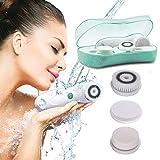 TOUCHBeauty 3 in1 Gesichtsreinigungsbürste IPX6 Wasserfest mit 2 Geschwindigkeitseinstellungen Gesichtshaut Reiniger & Peeling Bürstengerät TB-0759A