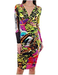 Kevan Jon Mamba Plunge Dress Lime Green