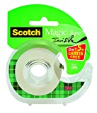 3M 8-1930DP Scotch Handabroller inklusive 1 Rolle Scotch Magic Klebeband, 19 mm x 30 m