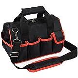 Pahal Nylon Tool Bag (Black, 16 inch)