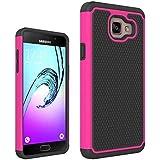 Étui Samsung Galaxy A5(2016)A510, Résistant Aux Impacts Armure Bouclier Shield Coque Rigide Housse 2en1 Combinaison Balle Modèle pour Samsung Galaxy A5(2016)A510 (Hot pink)
