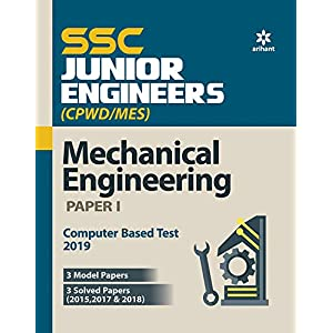 SSC Junior Engineers Mechanical Engineering Paper 1 2019 (Old edition)