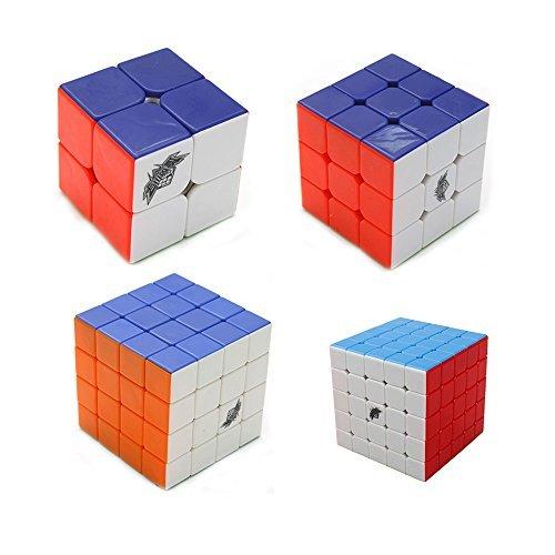 HJXDtech Cyclone Boys 2x2x2 3x3x3 4x4x4 5x5x5 Zauberwürfel Set stickerless Geschwindigkeit Puzzle (Cyclone Boys 3x3x3)