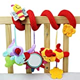 #3: iDream Cute Multi-Function Activity Soft Plush Spiral Rattle Hanging Bell For Crib Bed Stroller For Baby Infant Newborn (Style 3)