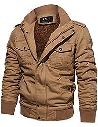 938a464e420f Z6M6 Homme Hiver Chaud Cotton Manteaux Haute Qualité Faux Fourrure Doublé  Outdoor Veste Militaire Mode Outwear