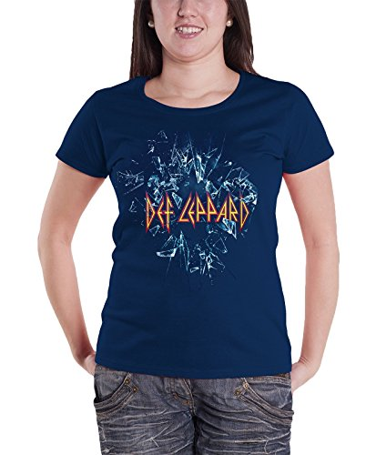 Women's Official Def Leppard Logo Skinny Fit Tee. 12, 14