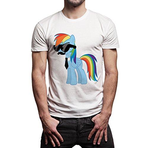 SWAG Blue Business Pony Herren T-Shirt Weiß
