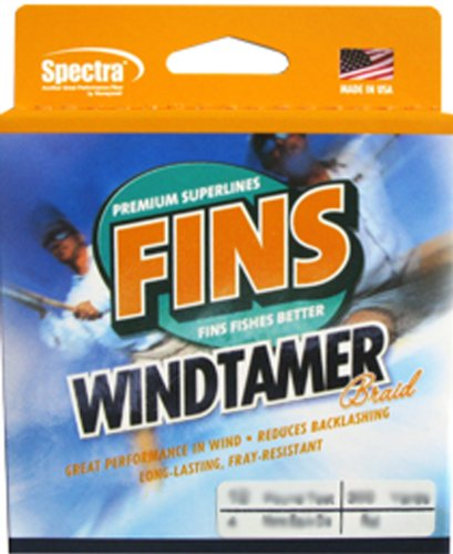 Fins Fishing Flossen SPECTRA 150-yards Windtamer Angelschnur, gelb, 80-Pound