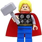 LEGO Super Heroes: Thor Minifigur (ohne Bart), mit Hammer