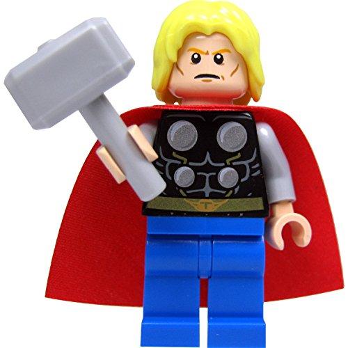 LEGO Super Heroes: Thor Minifigur (ohne Bart), mit Hammer (Lego Super Heroes-thor)