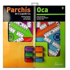 Fournier – Tablero Parchís/Oca y fichas, 40 x 40 cm, para 6 Jugadores (F29468)